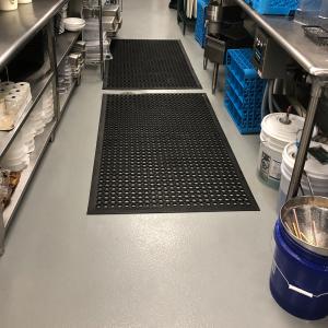 commercial kitchen floor Louisville Biscuit Belly Restaurant